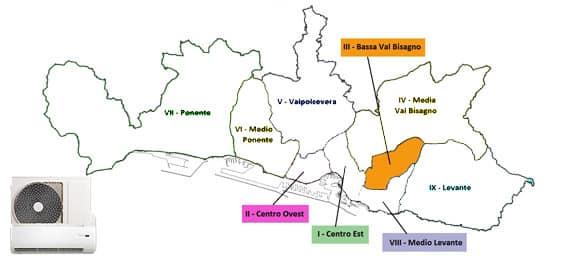 Assistenza Condizionatori Genova Bassa Val Bisagno