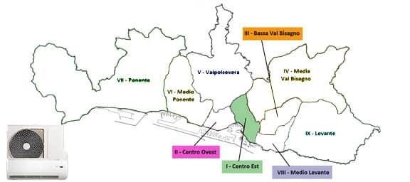 Assistenza Condizionatori Genova Centro-Est Municipio 1