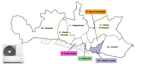 Assistenza condizionatori Genova Medio-Levante