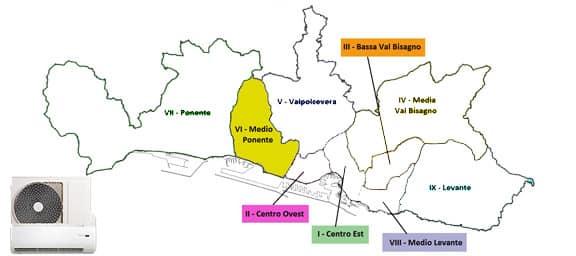 Assistenza condizionatori Genova Medio-Ponente